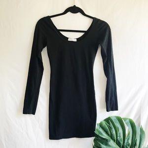 Black Body Con Dress, Long Sleeve